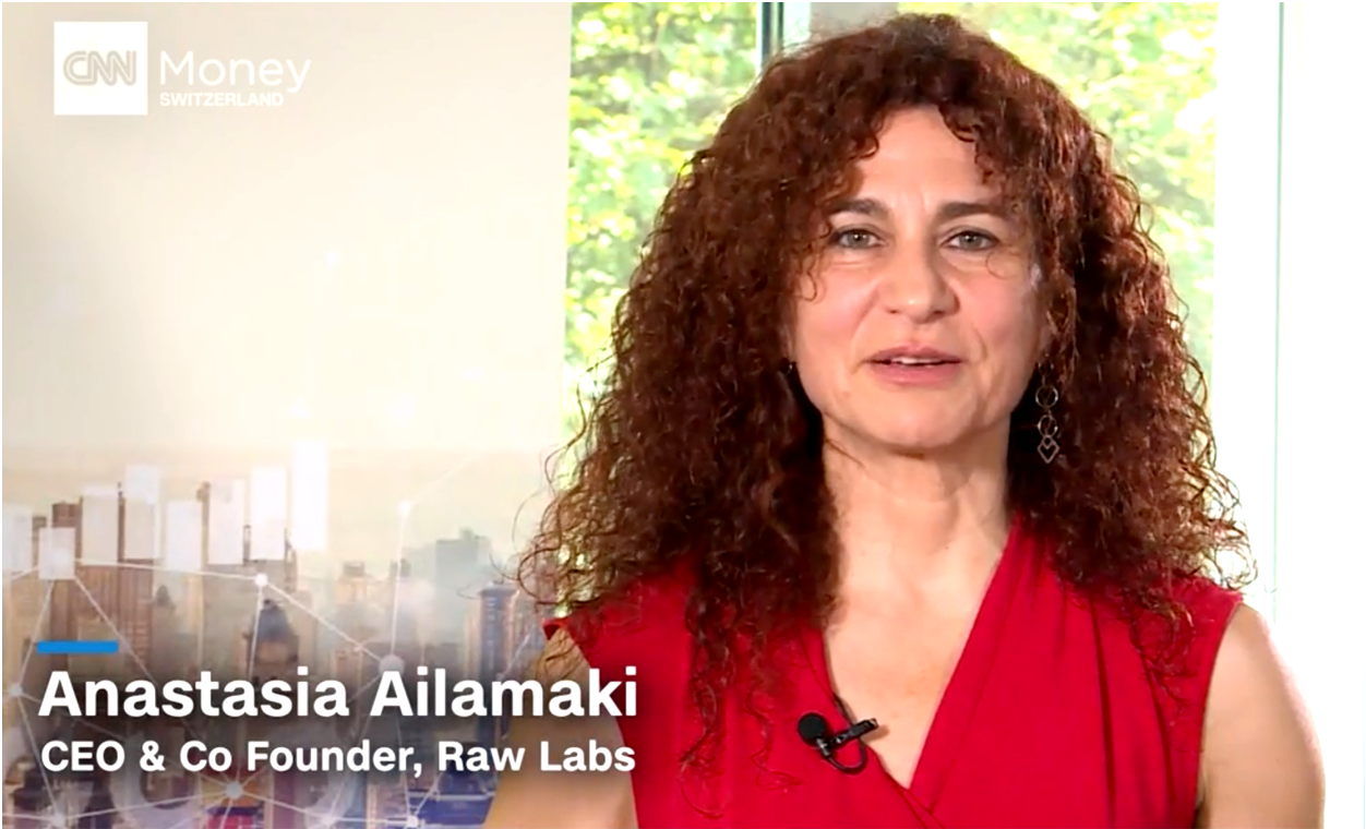 RAW Labs CEO and co-founder Anastasia Ailamaki featured in CNNMoney Switzerland
