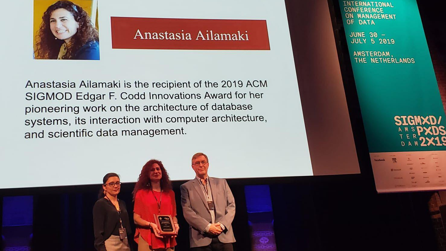 RAW Labs CEO Anastasia Ailamaki wins prestigious ACM SIGMOD Edgar F. Codd Innovation Award